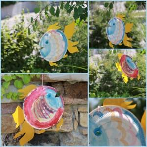 Basteln mit kindern aquarium aus papptellern - Basteln mit kindern sommer fenster ...