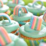 Regenbogen Cupcake