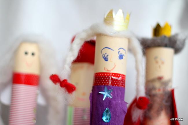 Kasperltheater - Figuren aus Papprollen