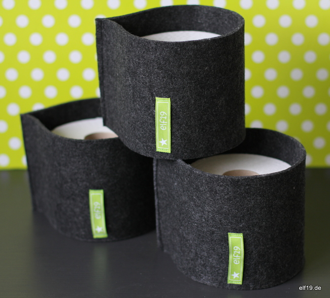 Toilettenpapier-Verstecker aus Filz