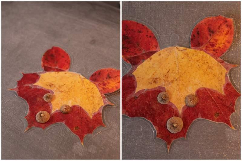 laminierte Herbstdeko