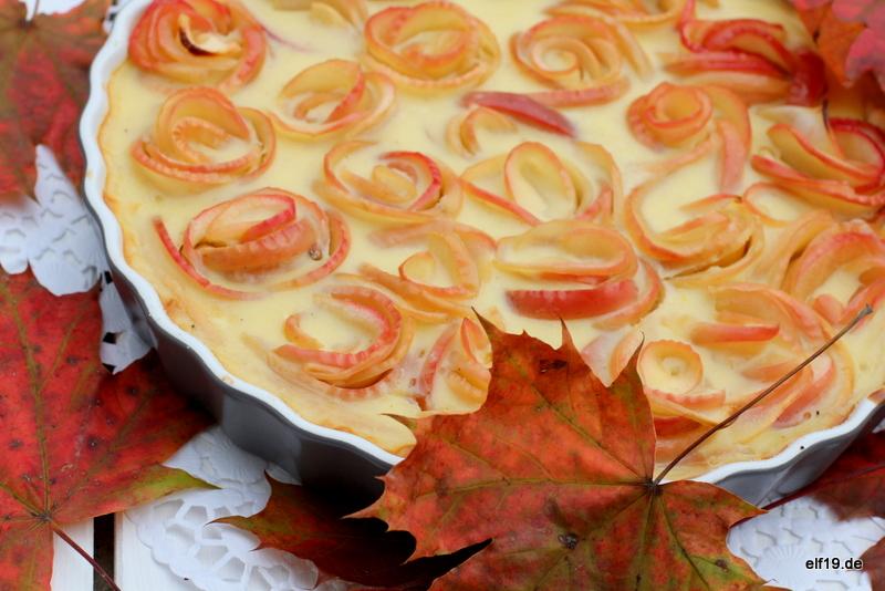 Apfel Rosetten Kuchen