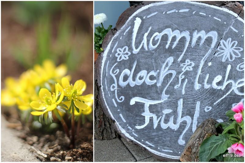 Frühlingsdeko im Garten