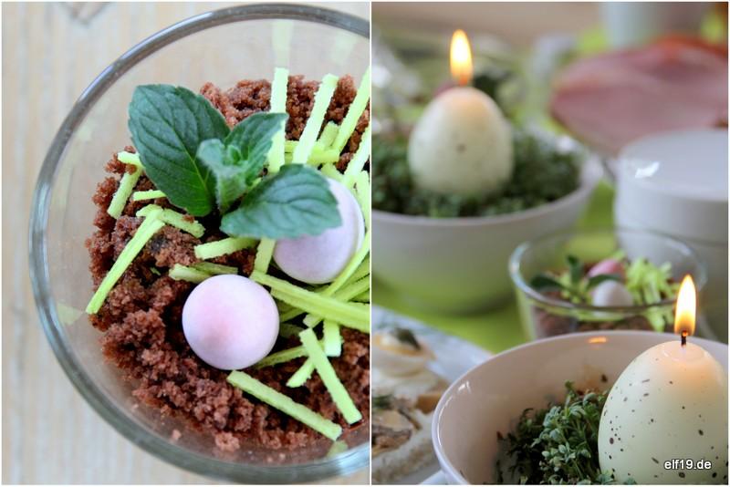 Schoko-Mint-Dessert für Eilige