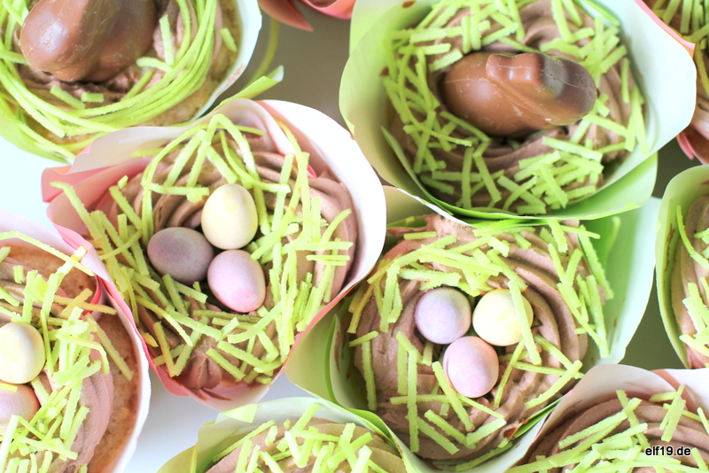 Osternest Cupcakes