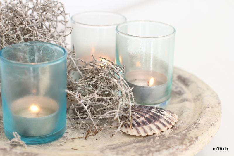 DIY Seaglass Windlichter