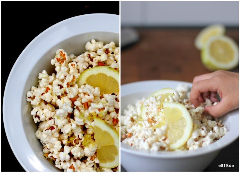 Lemon Popcorn mit weißer Schokolade