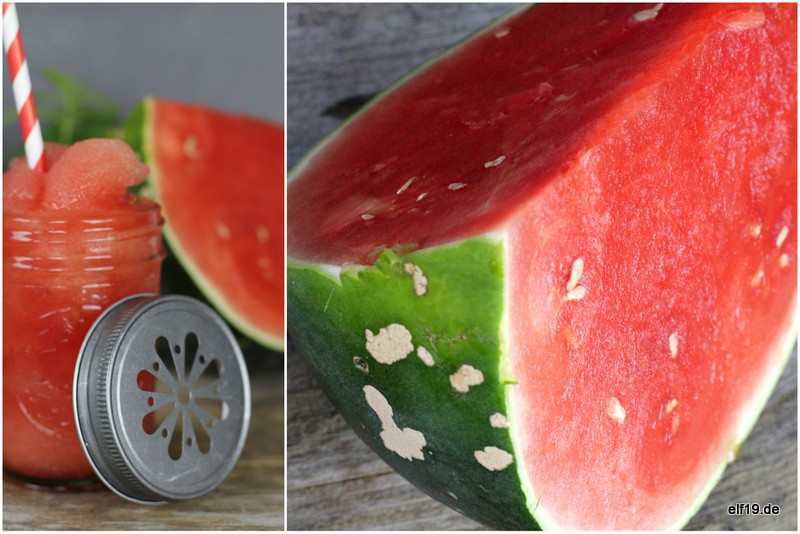 Wassermelonen Rosen Slush