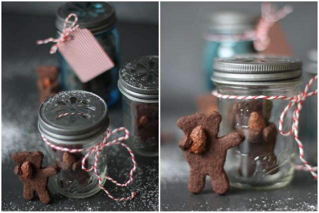 schokoladige Mandelbärchen