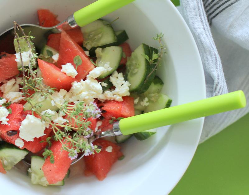 lecker melonen feta salat und mein kleiner beitrag in der aktuellen handmade kultur. Black Bedroom Furniture Sets. Home Design Ideas