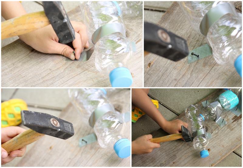 Wasserbahn aus PET Flaschen