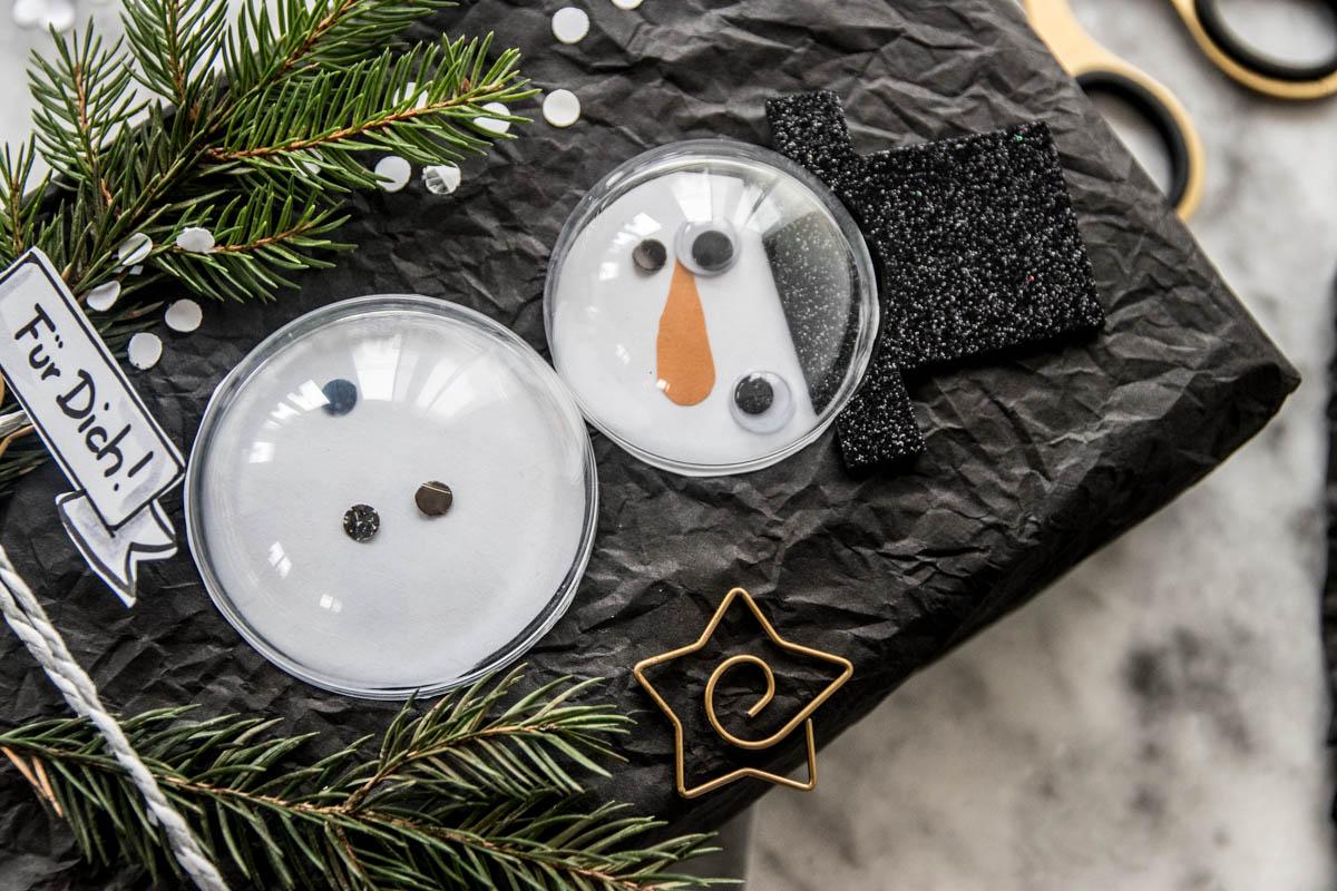 Schneemann Verpackung in 3D, gift wrapping, Geschenk originell einpacken, Geschenk einpacken, originell, DIY, Schneemann, Weihnachten, Advent