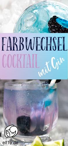 PIN für Gin Trends Gin Cocktail mit Farbwechsel Effekt